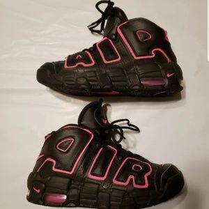 Air More Uptempo GS Pink Blast Sz 4.5Y Womens 6